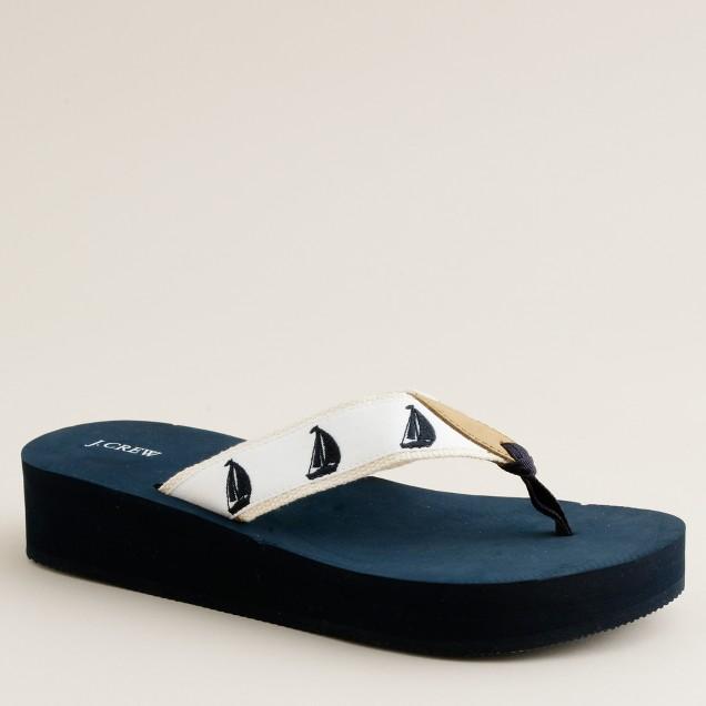 Critter wedge flip-flops