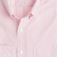 Thomas Mason® fabric button-down slim-fit shirt in pink stripe