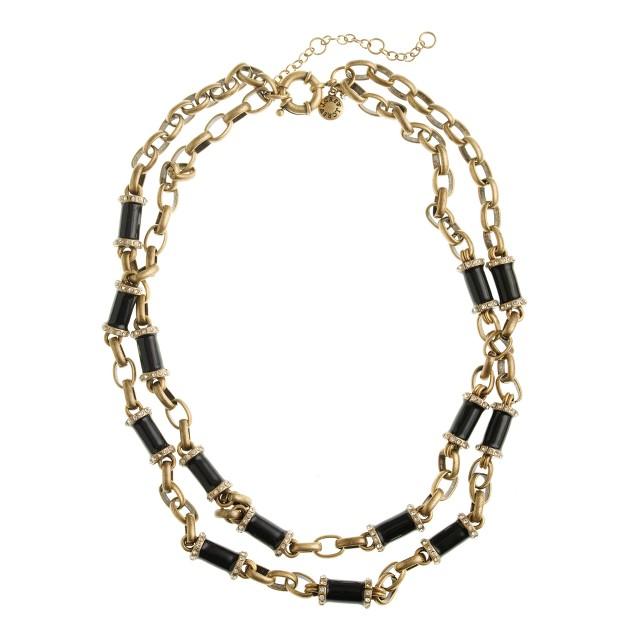 Nested enameled necklace