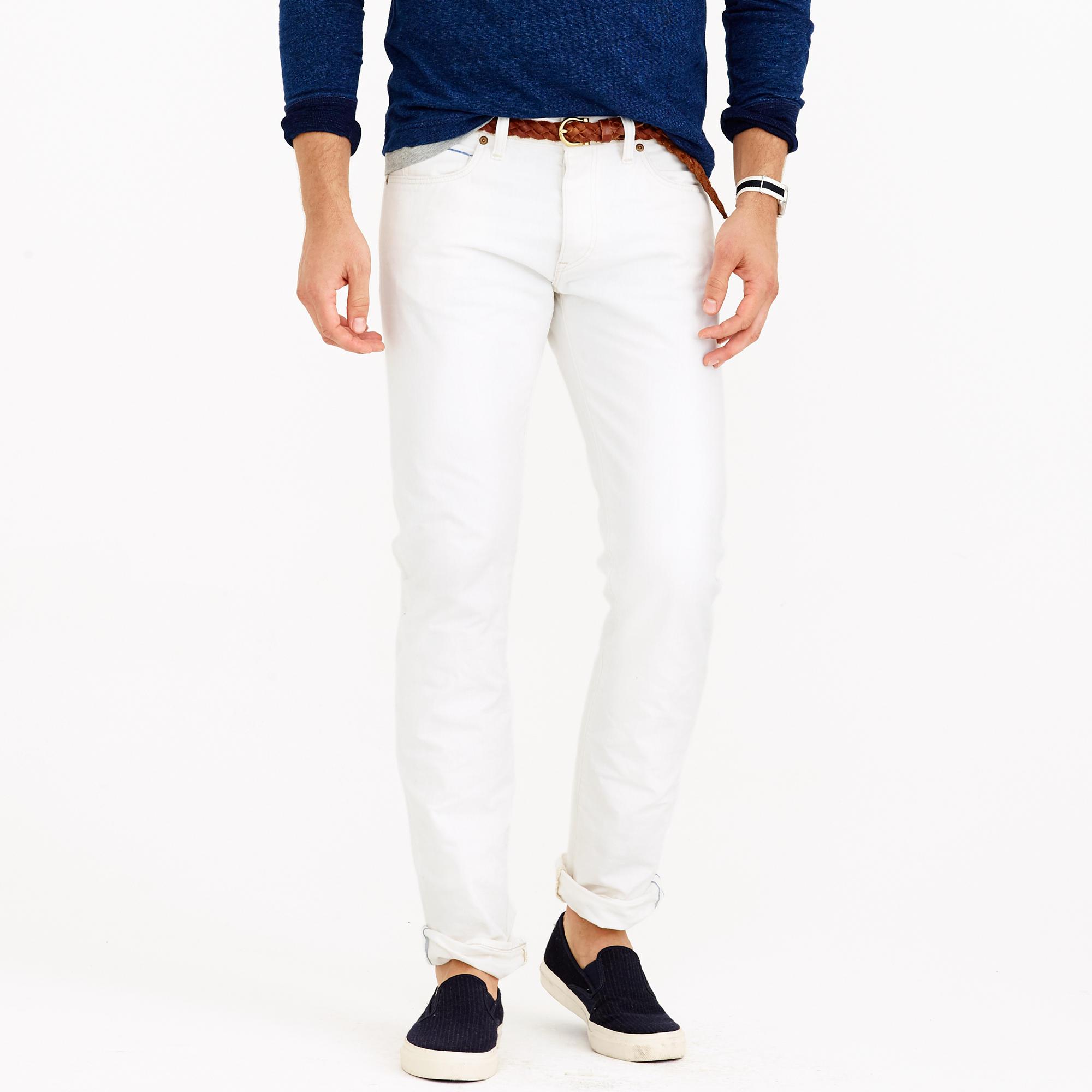 484 slim white rinse selvedge jean : Men 484 Slim | J.Crew