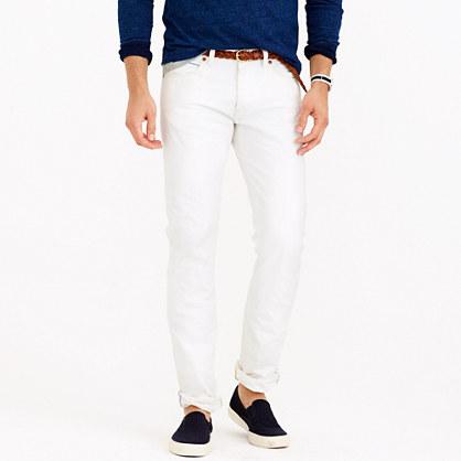 484 white rinse selvedge jean
