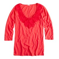 Lace necklace tee