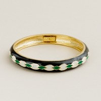 Argyle hand-enameled bangle