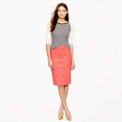 no 2 pencil skirt in pinwheel eyelet j crew