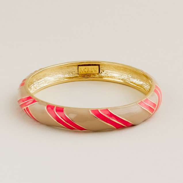Stripe hand-enameled bangle
