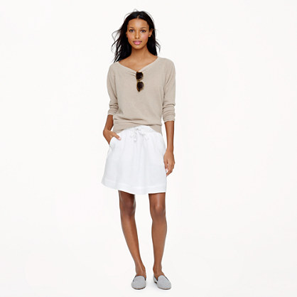 Boardwalk linen skirt in white