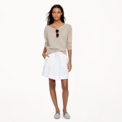Boardwalk linen skirt in white : Women Mini | J.Crew