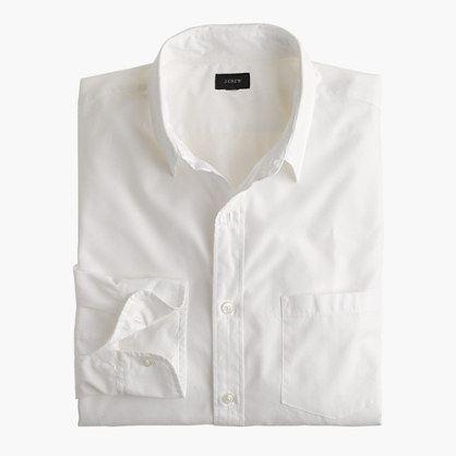 Slim Secret Wash point-collar shirt in white