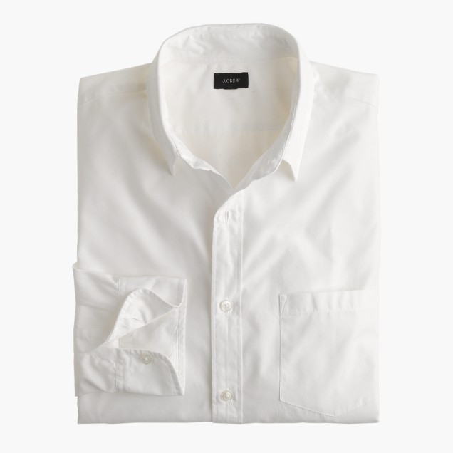 Tall Secret Wash point-collar shirt in white