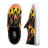 Boys' Vans® flames slip-ons