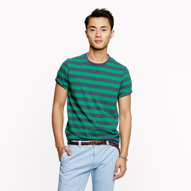 Dublin green stripe tee