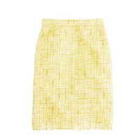 Canary tweed pencil skirt