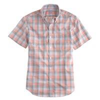 Lightweight short-sleeve shirt in orange check