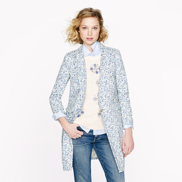 Collection Liberty topcoat in Phoebe floral