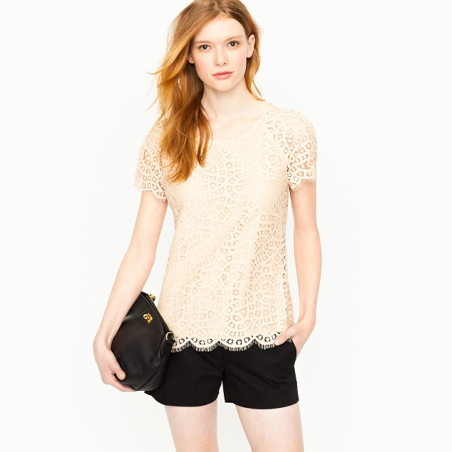 Raindrop lace top