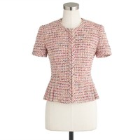 Collection peplum jacket in Ratti candy tweed