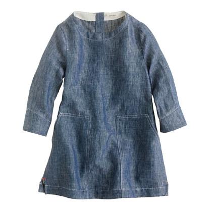 Girls' chambray tunic