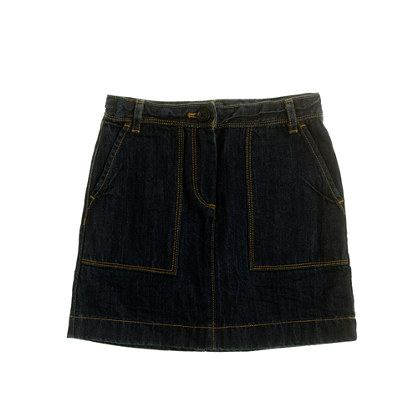 Girls' workwear denim skirt