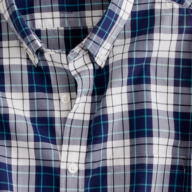 Secret Wash lightweight shirt in Lucas plaid