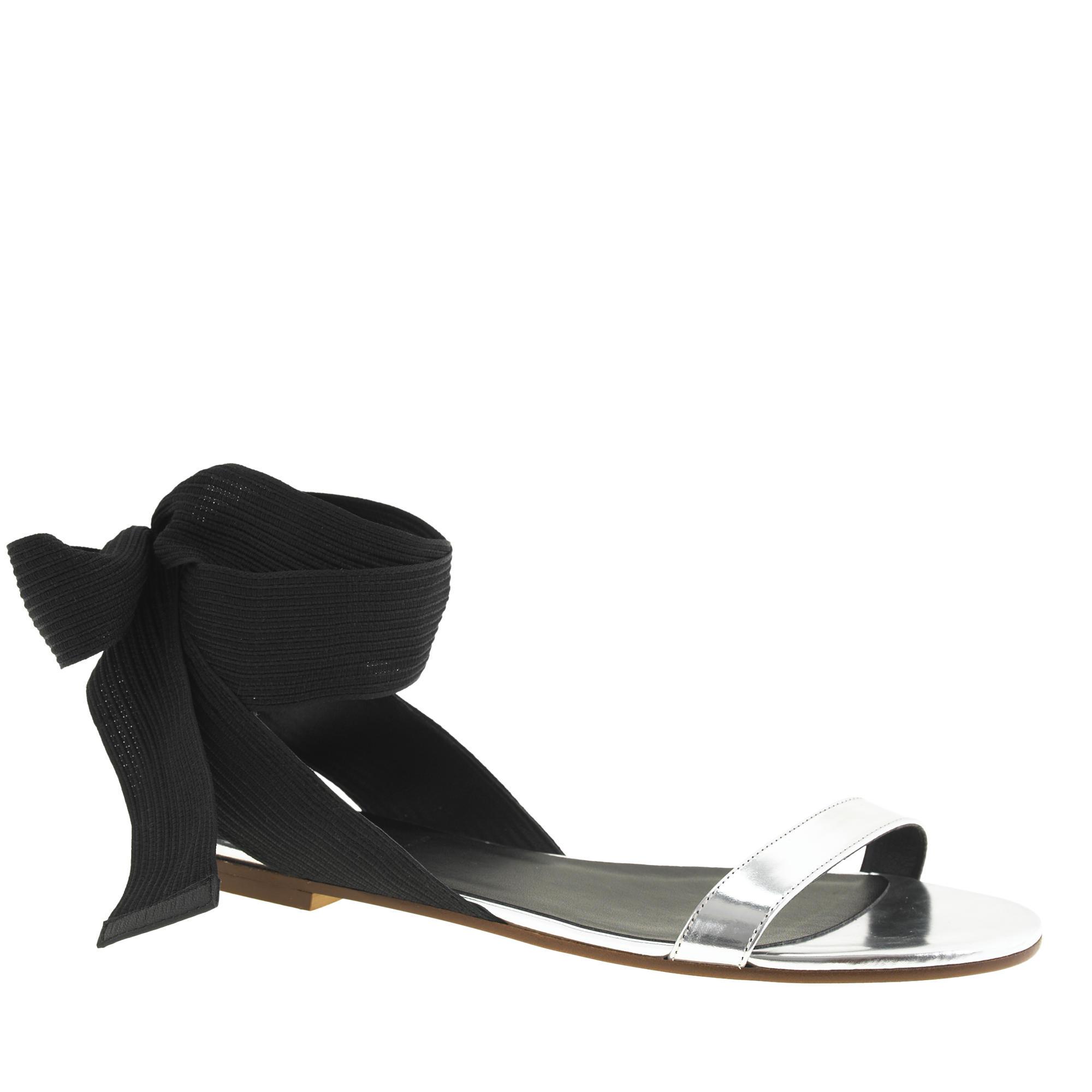 Black ribbon sandals -  Remi Ribbon Sandals
