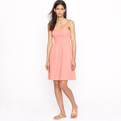 Petite strapless beach dress