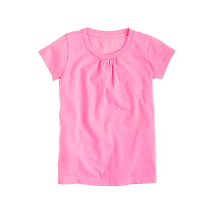 Girls' tiny-gathers tee