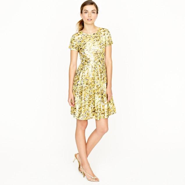 Metallic jacquard dress
