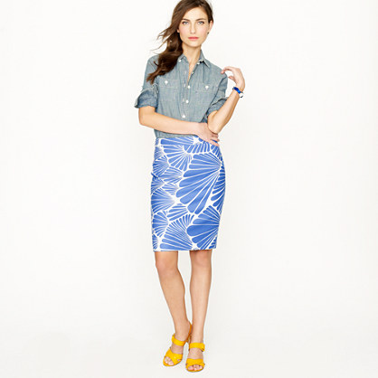 No. 2 pencil skirt in fanfare