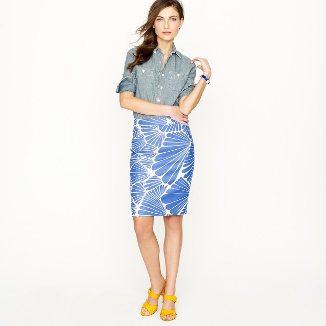 Petite No. 2 pencil skirt in fanfare