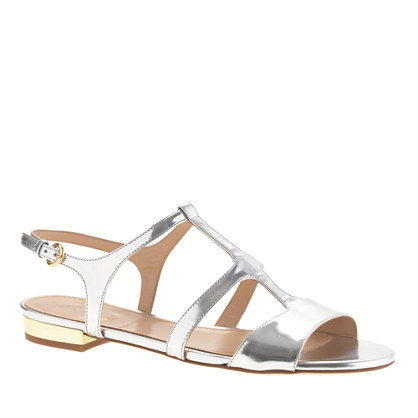 Allie metallic gladiator sandals