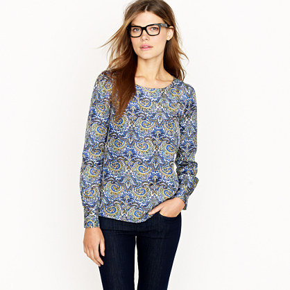 Talitha top in peacock paisley