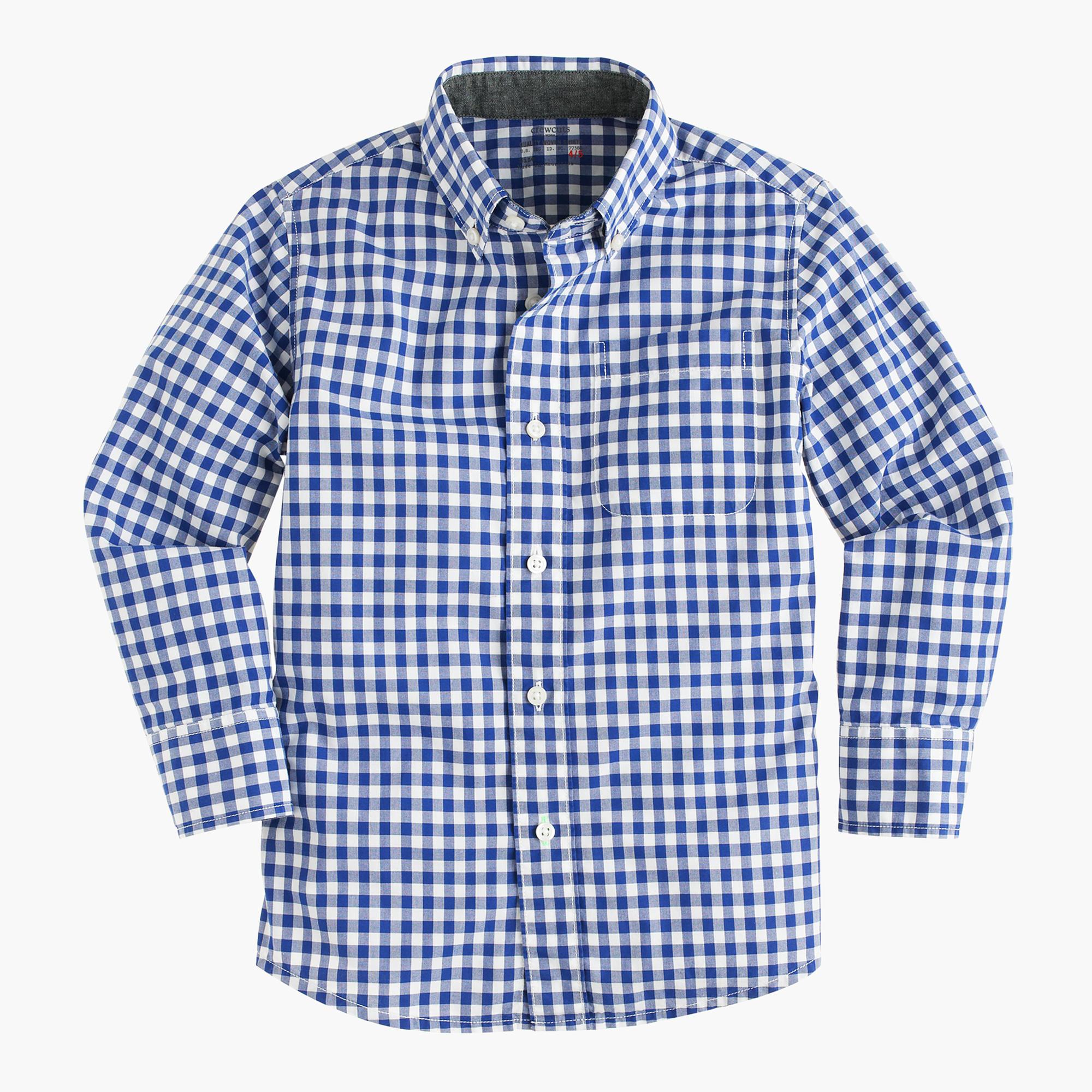 kids secret wash shirt in gingham boys shirts jcrew