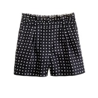 Collection polka-dot organza short