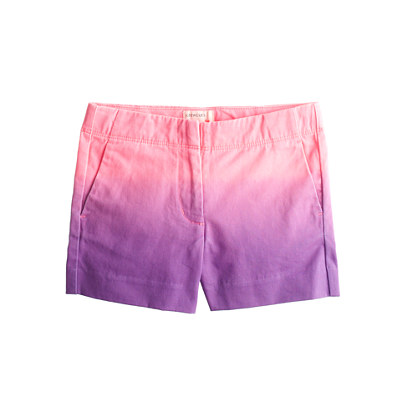 Girls' Frankie short in dip-dyed chino