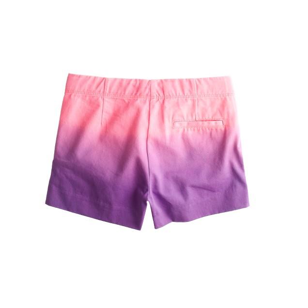 Girls' Frankie short in dip-dyed chino