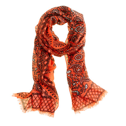 Vibrant paisley scarf