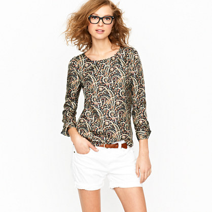 Talitha popover in feather paisley