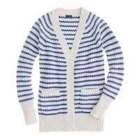 Ripplestitch cardigan in stripe