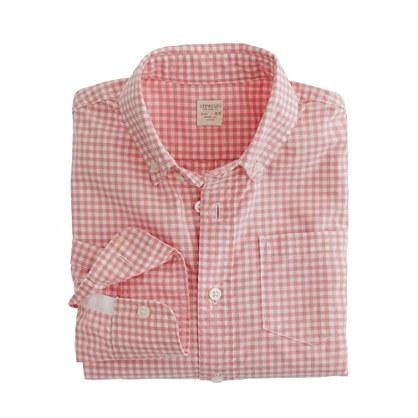 Boys' Secret Wash shirt in Henrick gingham