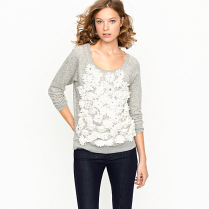 Summerlight terry daisy sweatshirt