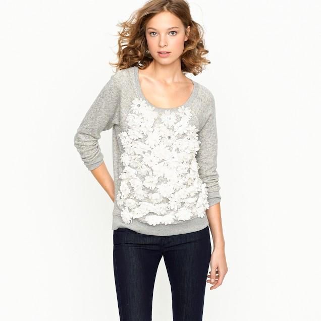 Summerlight terry daisy sweatshirt