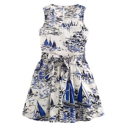 Girls' sailboat sundress