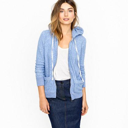 Summerlight terry zip hoodie