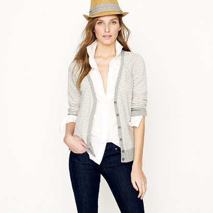 Painter V-neck cardigan in stripe
