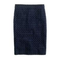 No. 2 pencil skirt in ultra eyelet