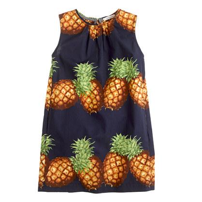 Girls' shift dress in Ratti pineapple