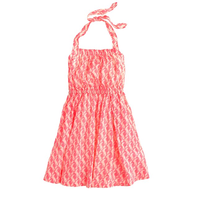 Girls' sea horse sundress