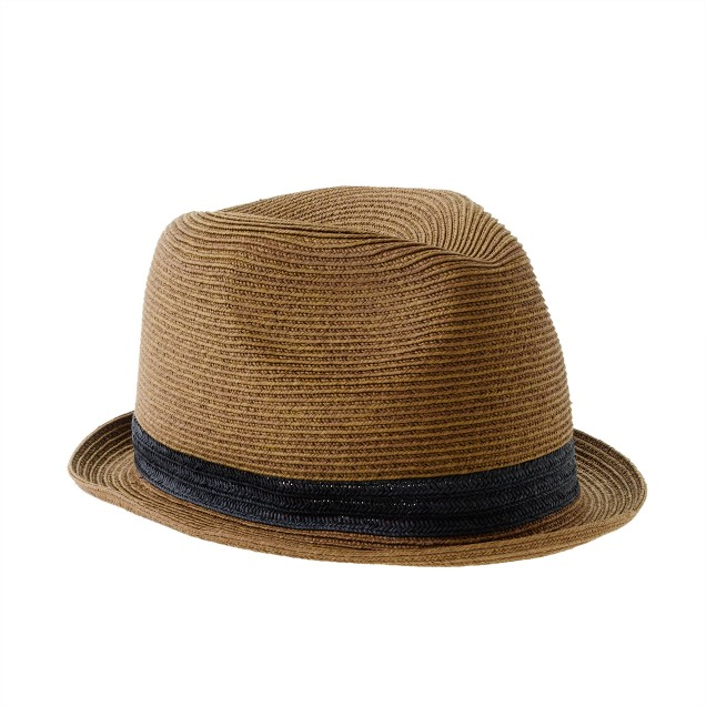 Boys' solid band trilby hat