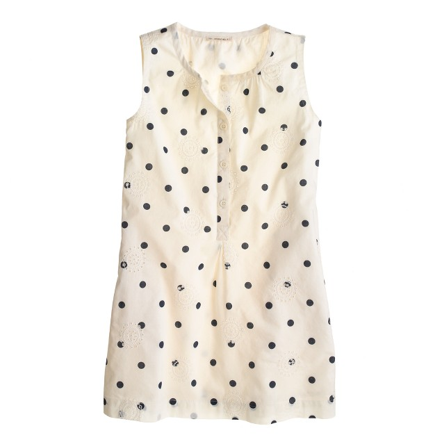 Girls' eyelet dot sundress