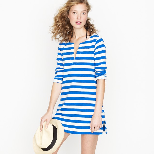 Knit tunic dress in stripe